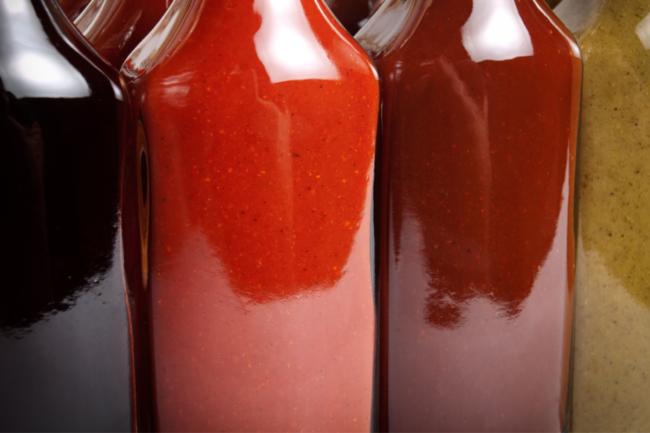 Sauce bottles from Sokol Custom Ingredients