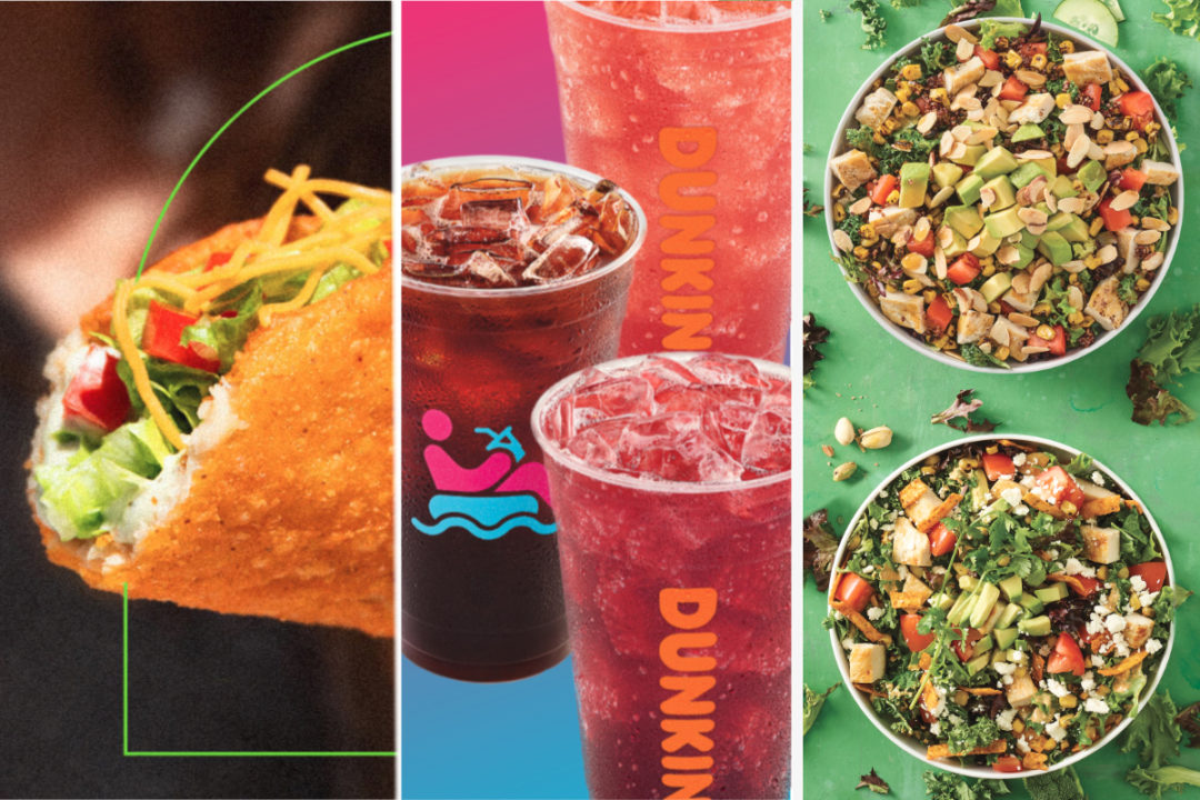 Test menu items from Taco Bell, Dunkin', Noodles & Company