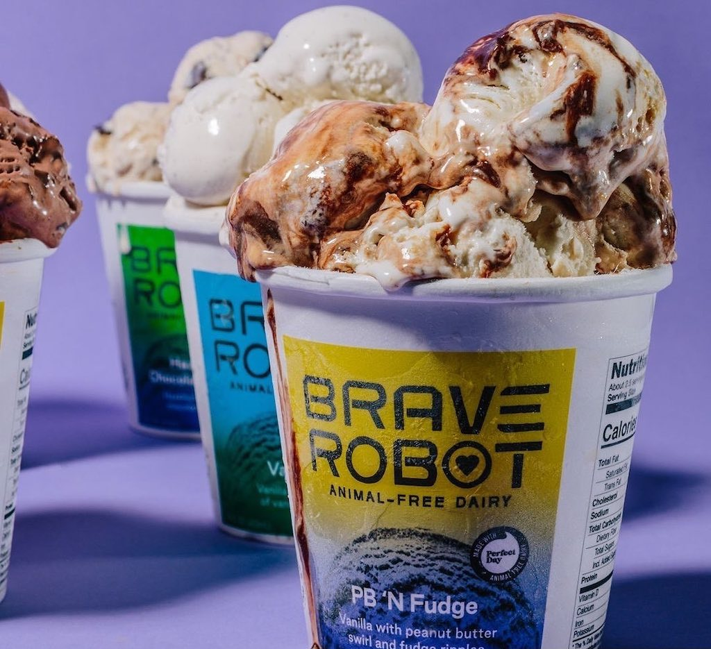Ice cream made with Perfect Day's animal-free dairy protein from Brave Robot
