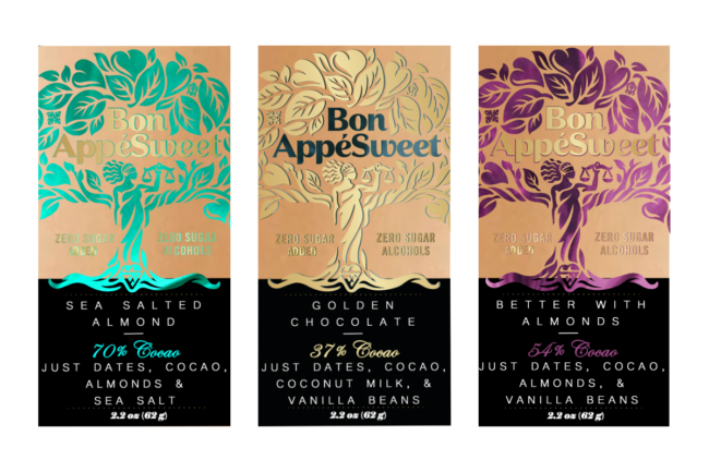 Assortment of Bon AppéSweet chocolate bars