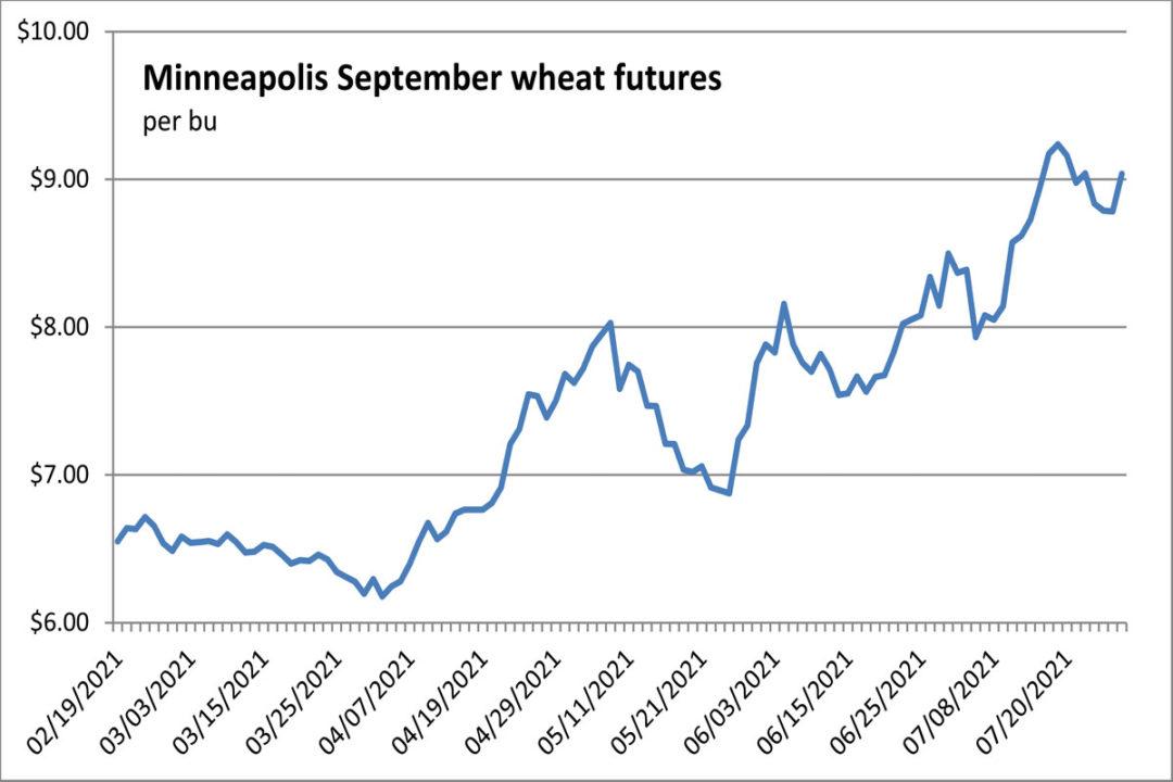 Minneapolis wheat futures chart