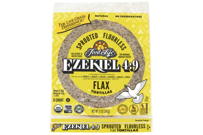Ezekiel 4:9 Sprouted Flourless Flax Tortillas