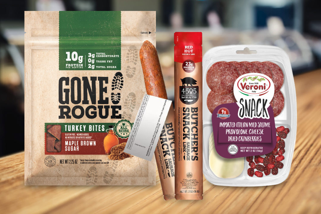 New meat snacks from Land O'Frost, Veroni, and 4505 Meats