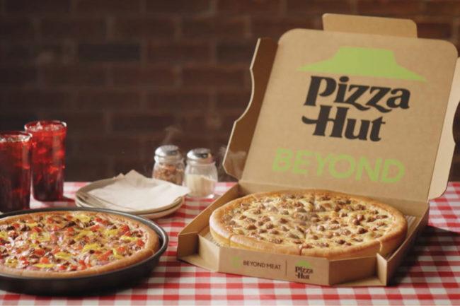 Pizza Hut Beyond Meat pizza