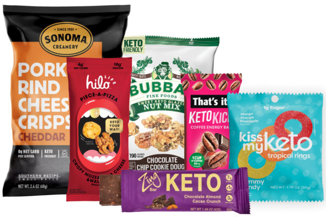 Keto products at Sweets & Snacks