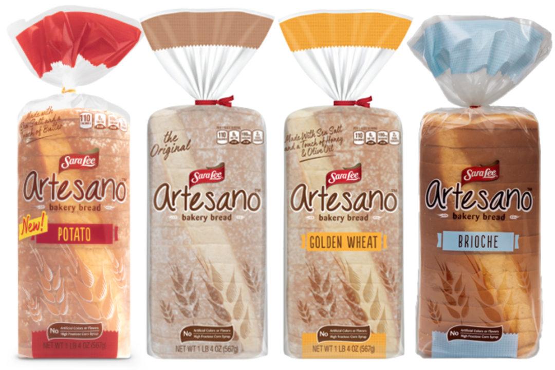 Sara Lee Artesano bread varieties