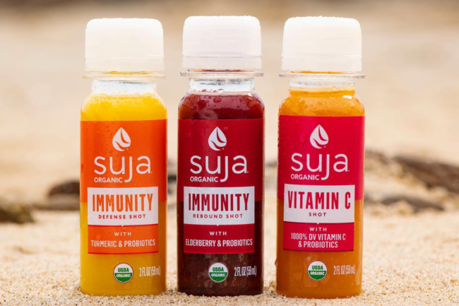 Cold-pressed juice shots from Suja Life
