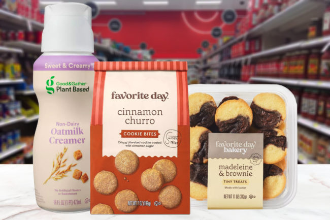 Target Good & Gather plant-based creamers and Favorite Day treats