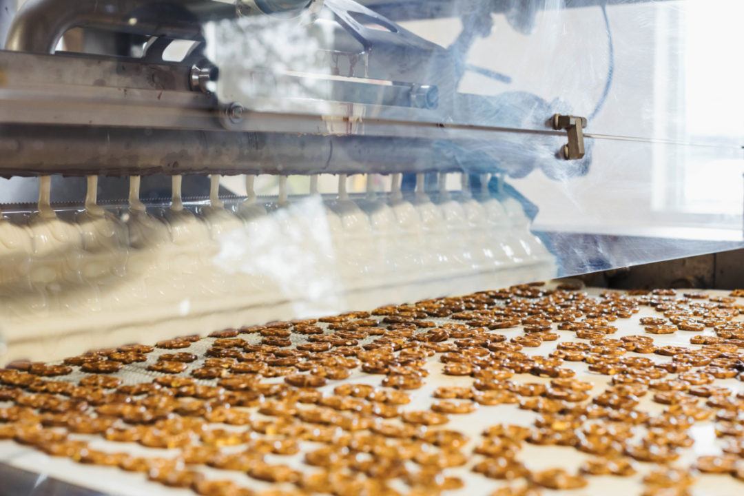 Wolfgang Confectioners chocolate-covered pretzels production line