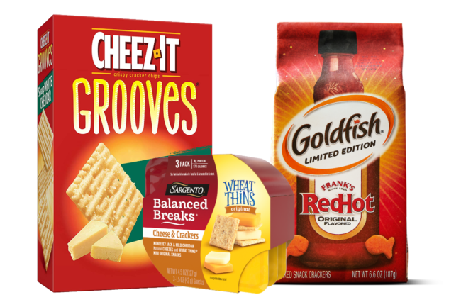 Variety of crackers