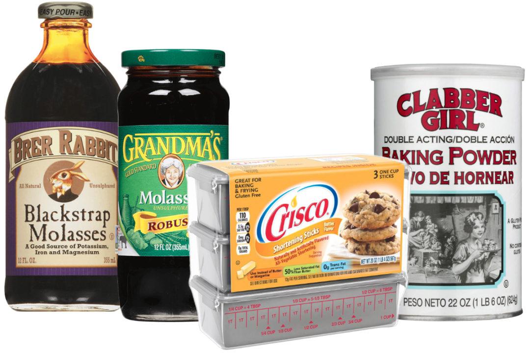 B&G Foods baking products: Brer Rabbit and Grandma's Molasses, Clabber Girl baking powder and Crisco shortening sticks