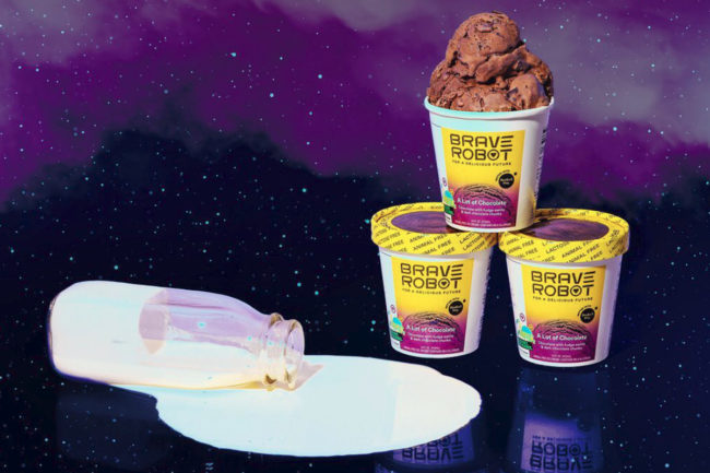 Brave Robot ice cream made with non-animal whey protein