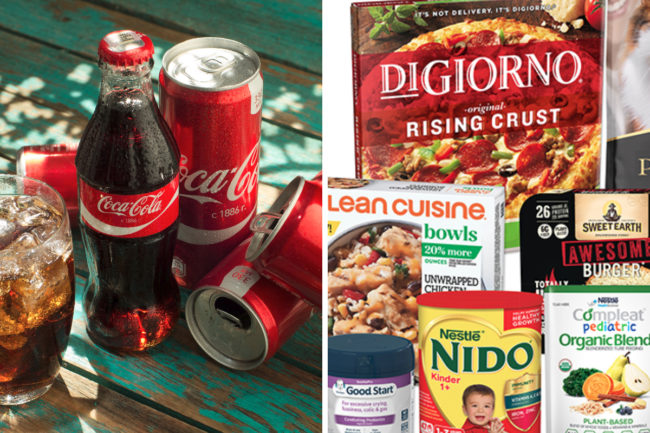 Coca-Cola and Nestle products