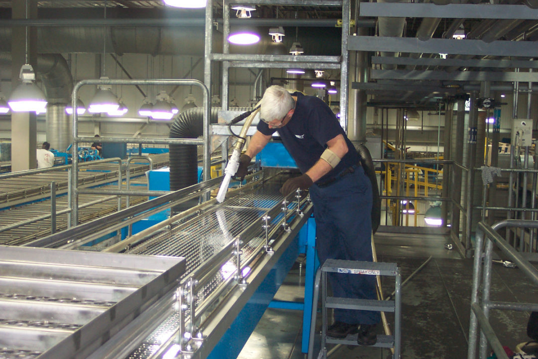 Operations where baked foods are topped or filled with meats and other proteins require next-level cleaning processes.