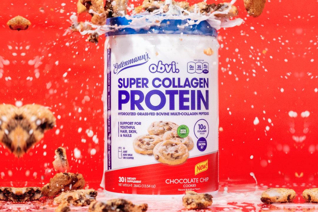 Entenmann's x Obvi Super Collagen Protein Powder | Chocolate Chip Cookie