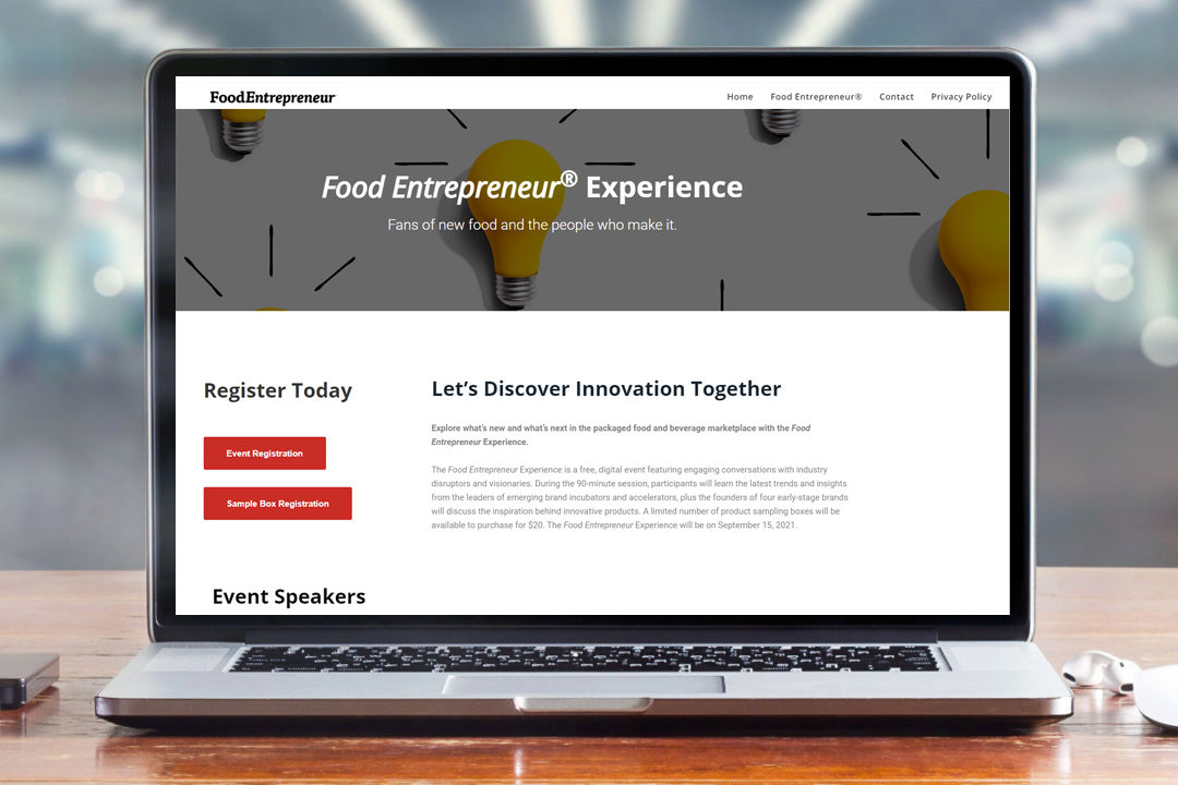Food Entrepreneur Experience website