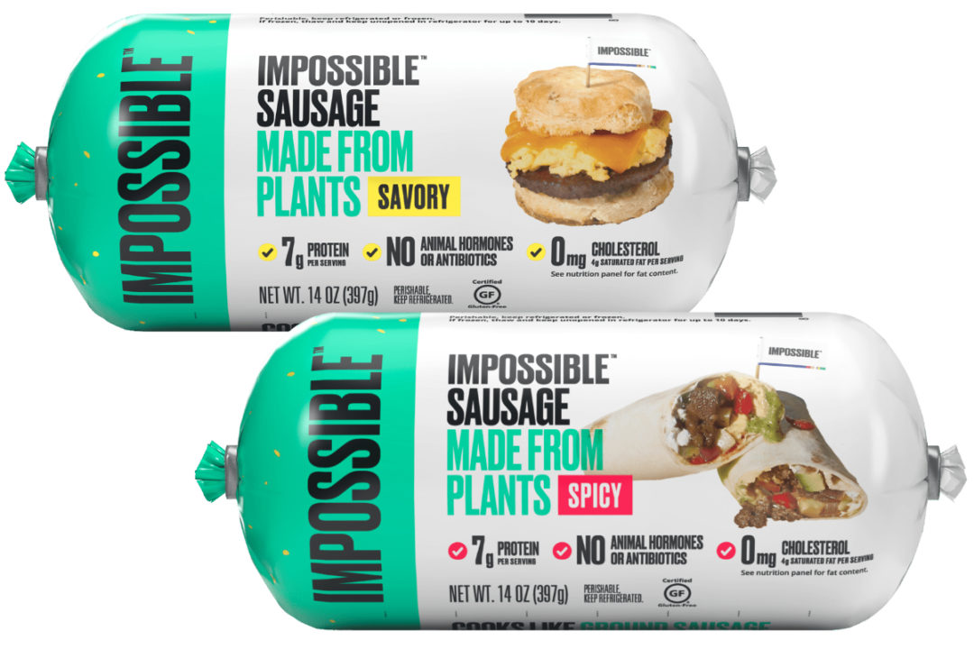 Impossible Sausage made from plants