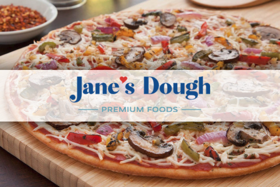 Jane's Dough Foods pizza and new logo
