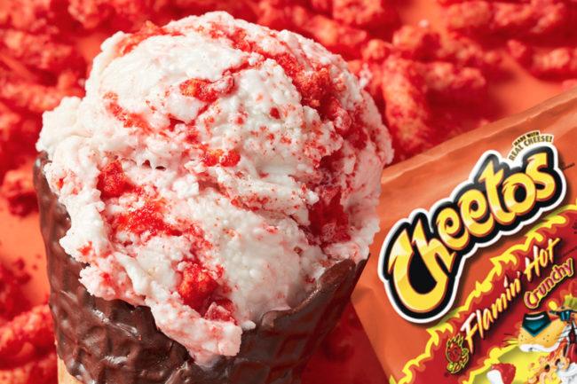 Marble Slab Creamery Cheetos Flamin' Hot Ice Cream