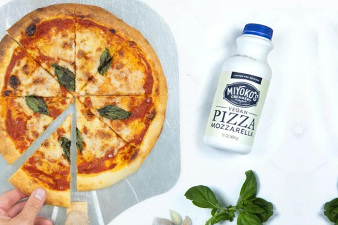 Miyoko's liquid vegan pizza mozzarella