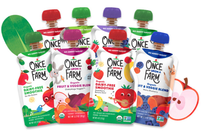 Once Upon a Farm baby food pouches