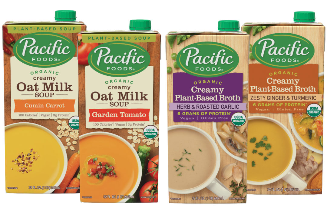 Pacific Foods Creamy Oat Milk Soups and Creamy Plant-Based Broths