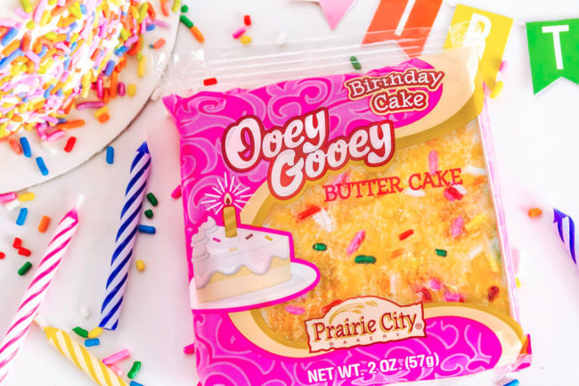 Prairie City Bakery birthday cake Ooey Gooey Butter Cake