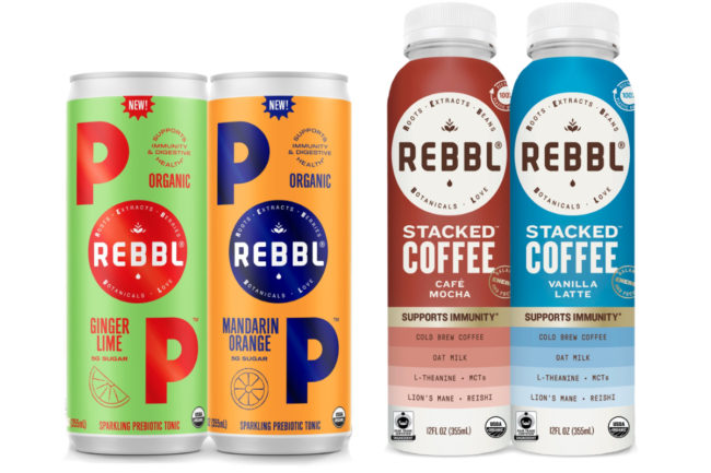 REBBL POP and REBBL Stacked Coffee
