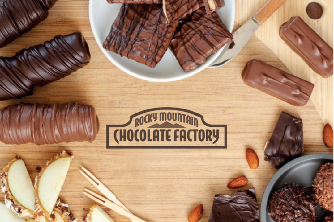 Rocky Mountain Chocolate Factory board and products