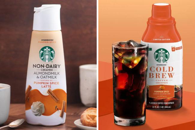 Starbucks Starbucks Pumpkin Spice Non-Dairy Creamer and Starbucks Pumpkin Spice Cold Brew Concentrate