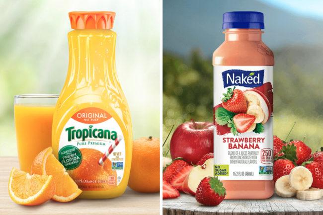 Tropicana and Naked juice