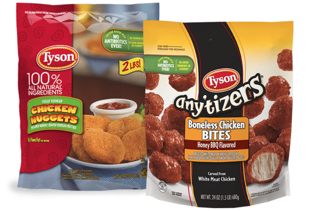Tyson Foods Any'tizer Snacks and Chicken Nuggets