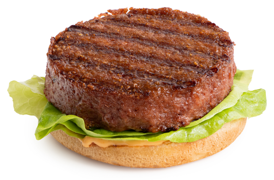 Plant-based burger made with functional native starches