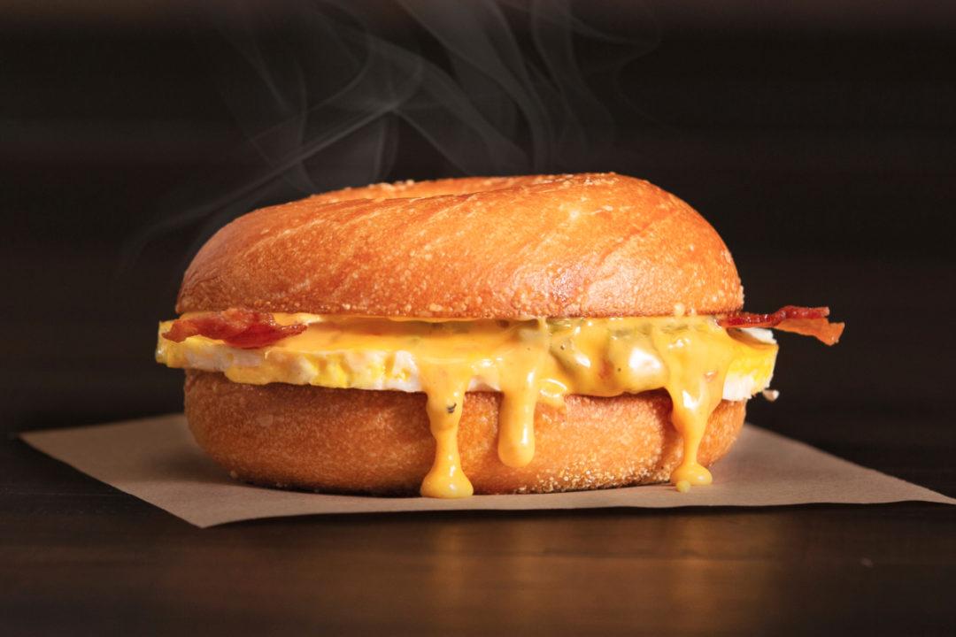 Einstein Bros. Bagels Bacon & Egg Queso Sandwich