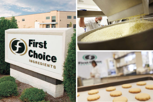First Choice Ingredients sign and dairy-based flavor solution manufacturing