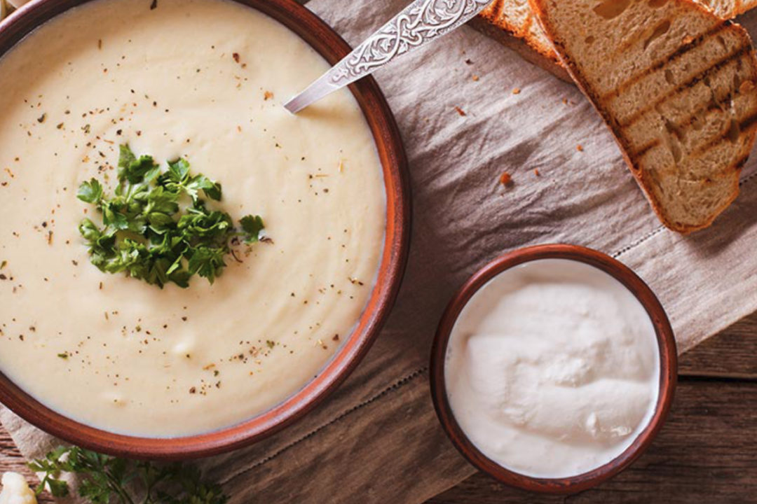 Soup made with Ingredion starch