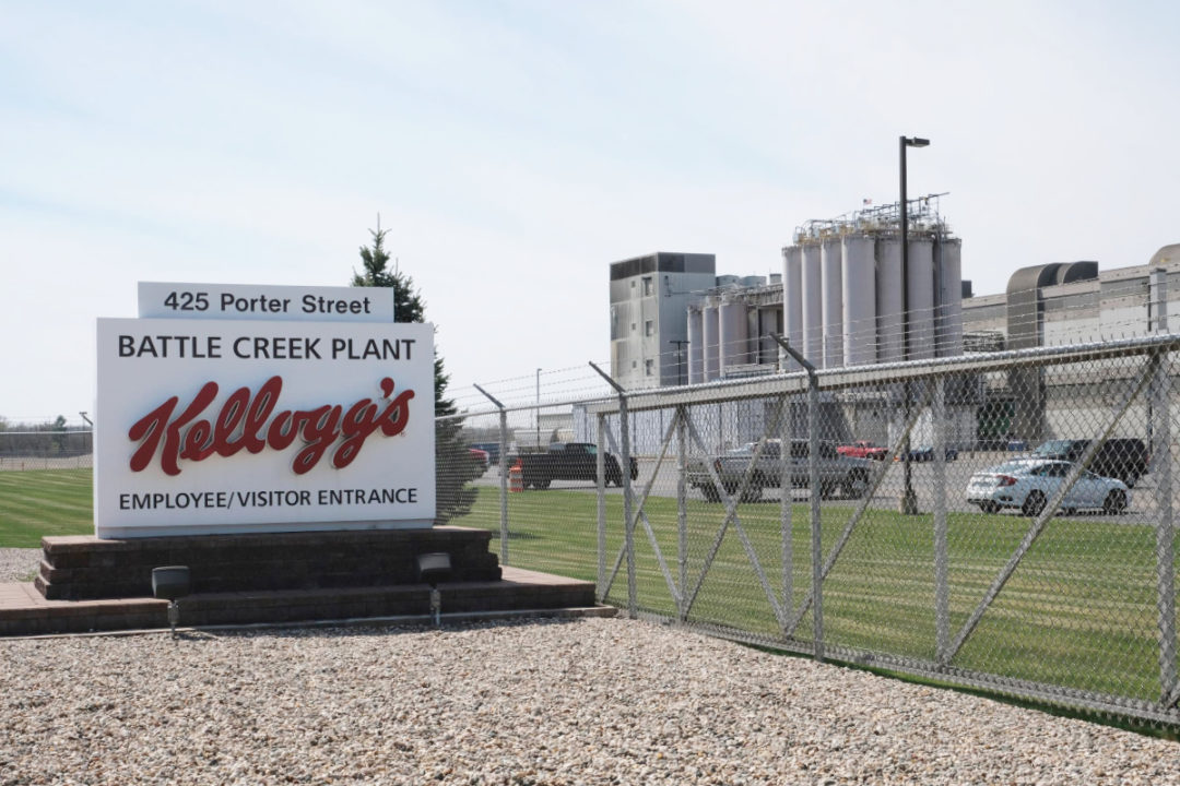 Kelloggs Porter Street ready-to-eat cereal plant in Battle Creek