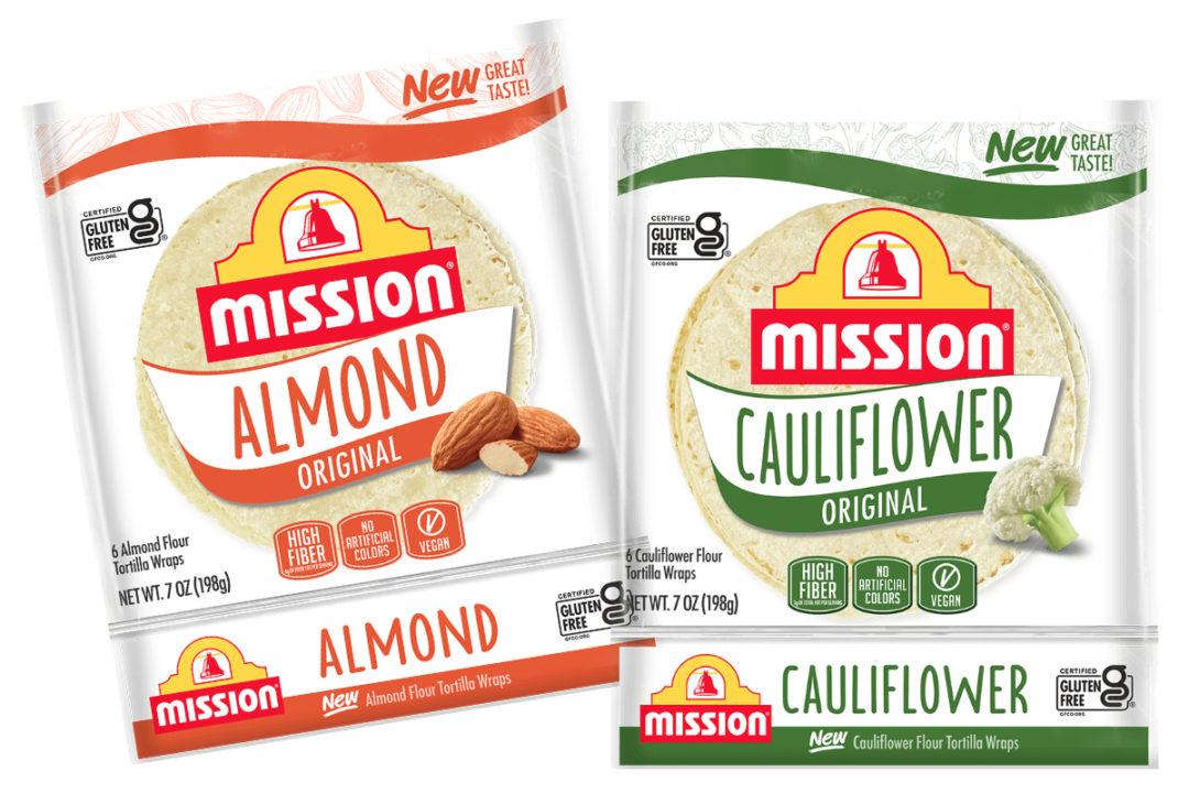 Mission Foods almond flour tortillas and cauliflower tortillas