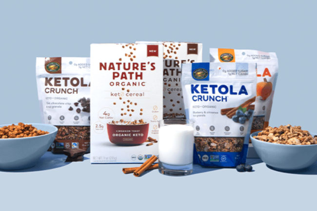 Natures Path keto cereal and granola
