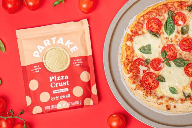 Partake Foods pizza crust baking mix
