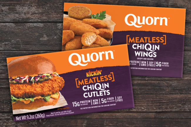 Quorn meatless ChiQin wings and meatless ChiQin cutlets