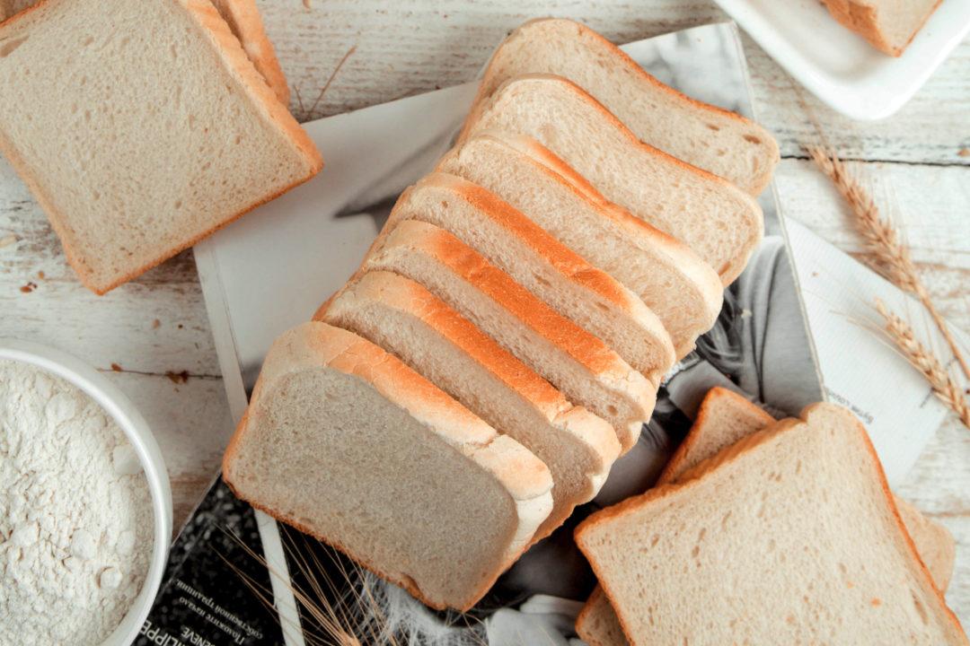 Sliced enriched white bread loaf