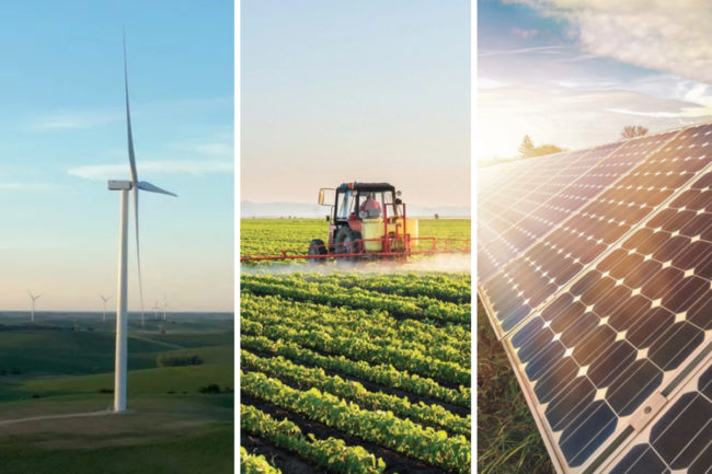 Smucker environmental impact - wind farm, agriculture and solar panels