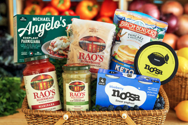 Sovos Brands products in a basket