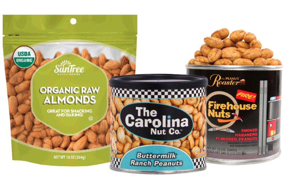 SunTree Snack Foods almonds, Carolina Nut peanuts and The Peanut Roaster peanuts