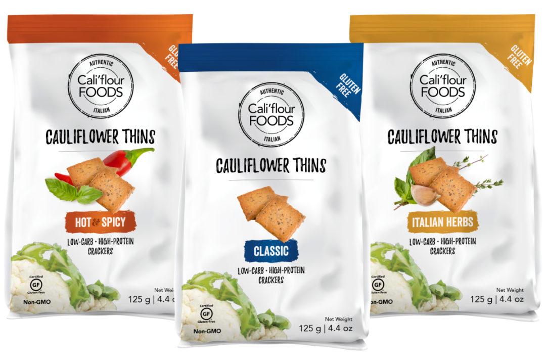 CaliFlour Foods cauliflower thins crackers