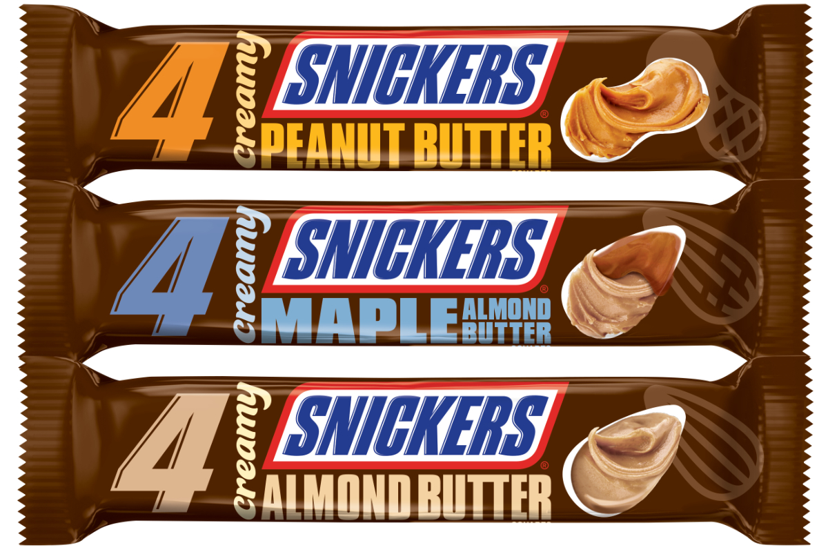 Creamy Snickers bars, Mars