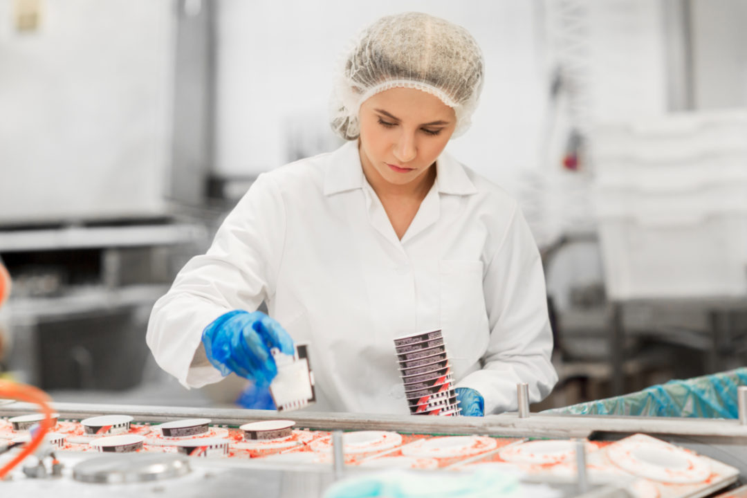 Dairy processing worker