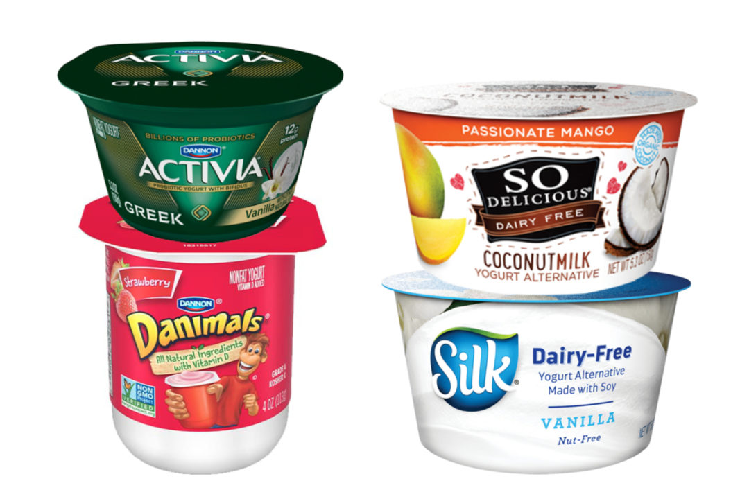 Activia, Danimals, Silk and So Delicious yogurt, Danone