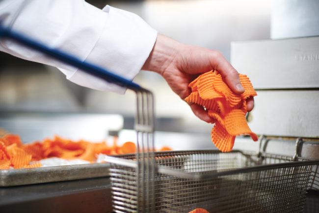 Qualisoy deep frying sweet potato fries